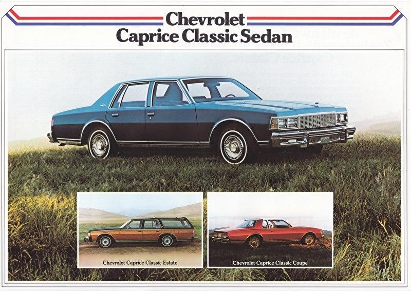 Caprice Classic 3 models 1979, 2 pages, export, Dutch language