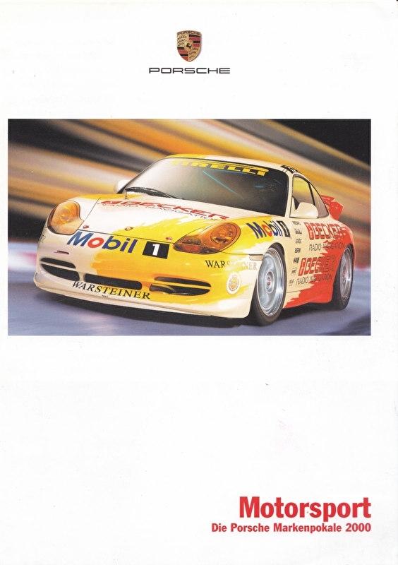 Porsche 911 Cup 2000 folder, 6 pages, 02/2000, German language