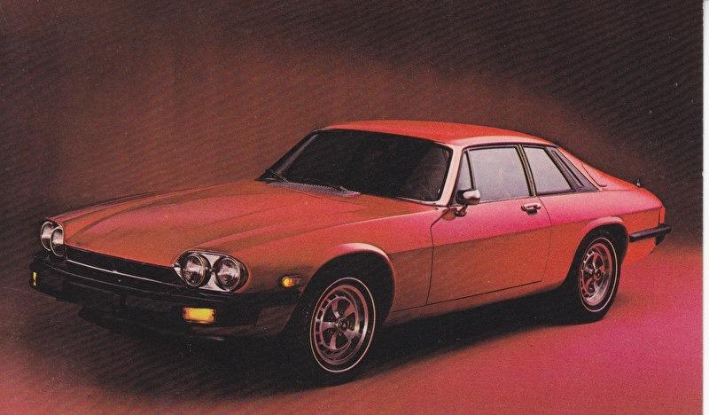 XJ S Coupe postcard, USA, standard size, about 1985