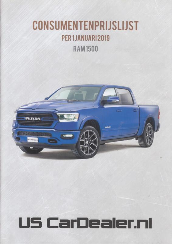 RAM 1500 Pick-up prices brochure, 8 pages, 01/2019, Dutch language