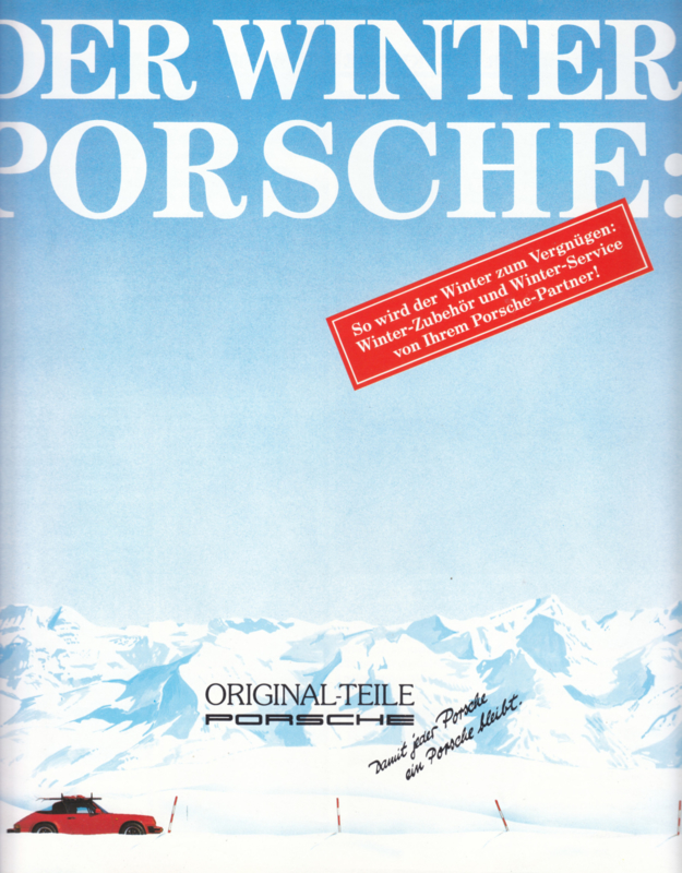 Winter accessories brochure, 4 pages, about 1988, German language