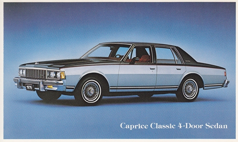 Caprice Classic 4-Door Sedan, US postcard, standard size, 1979