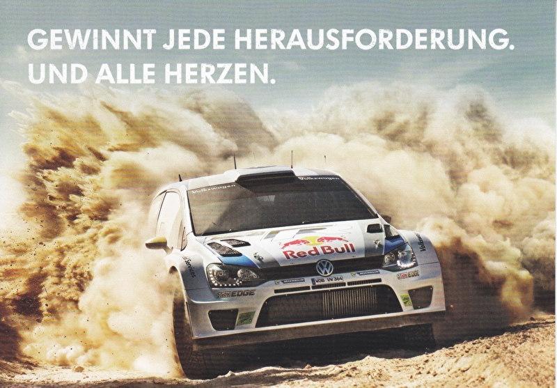 Polo R WRC rallye champion, A6-size postcard, German, 2014