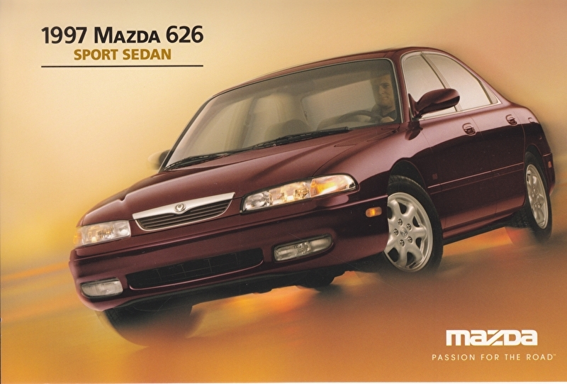 626 Sport Sedan, 1997, US postcard, A5-size