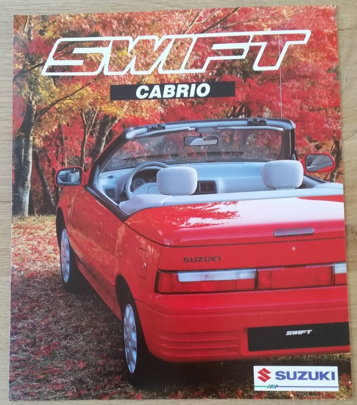 Swift Cabrio brochure, 6 large pages, 04/1992, Dutch language