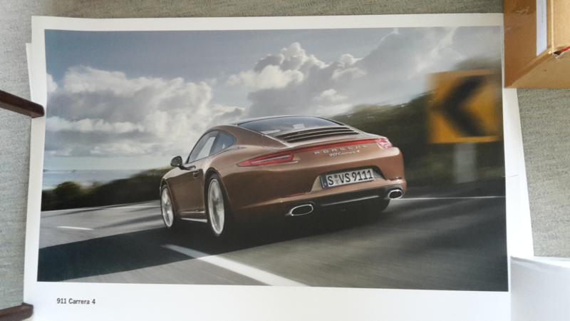 911 Carrera 4 large original factory poster, published 09/2012
