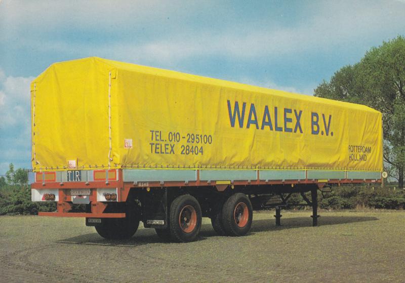 Waalex B.V. huckepack trailer, DIN A6-size postcard, Dutch issue