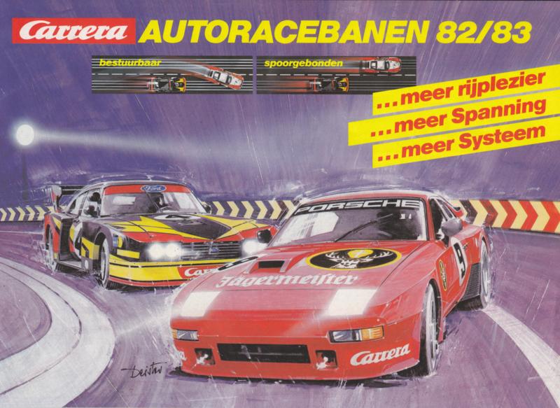 Carrera miniature car racetracks brochure,  12 pages, 1982/83, Dutch language