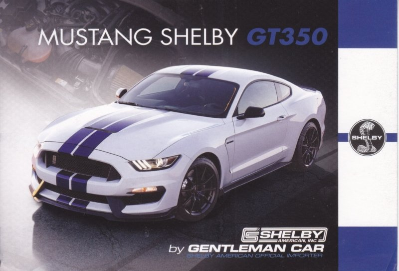 Mustang Shelby GT350 postcard,  English language, Belgian issue, about 2014