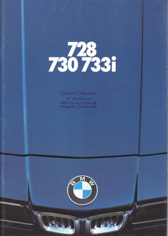 728/730/733i Sedan brochure, 48 pages, A4-size, 1/1979, German language