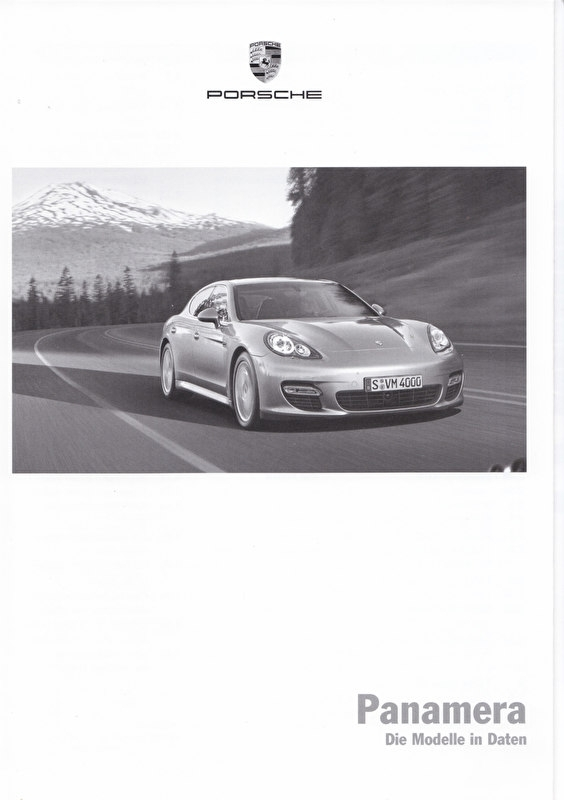 Panamera pricelist, 92 pages, 02/2009, German