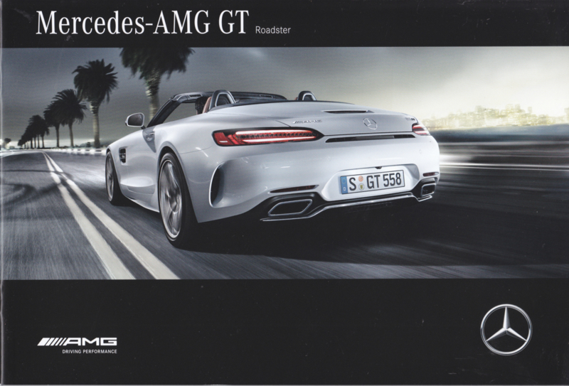 AMG GT Roadster brochure, 20 pages, 11/2016, Dutch language