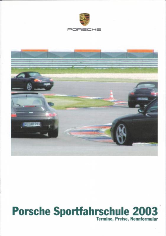 Sportfahrschule brochure, 8 pages, 02/2003, German language