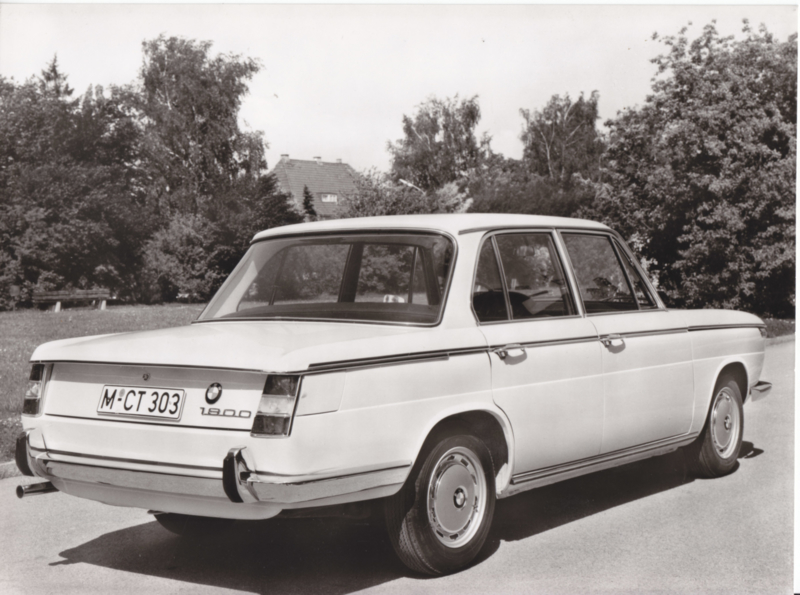 BMW 1800 Sedan - 1969 - German text on the reverse