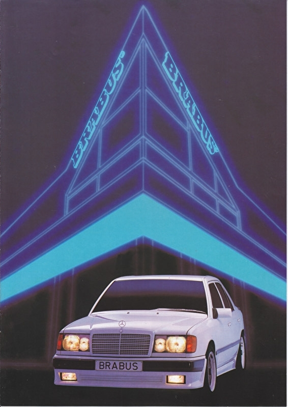 Brabus tuning factory brochure. 8 pages, about 1992, Dutch language