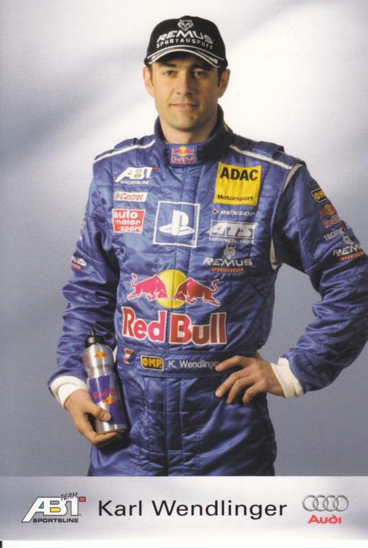 TT with racing driver Karl Wendlinger, unsigned postcard 2003 season, German language