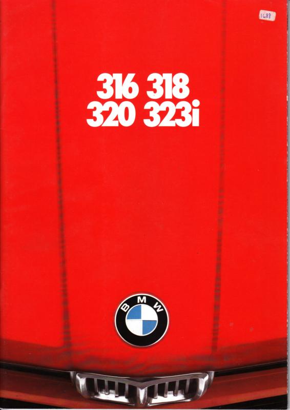 316/318i/320/323i brochure, 40 pages, A4-size, 1/1980, Dutch language