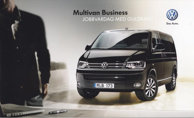Multivan Business brochure, 20 pages, 01/2012, Swedish language