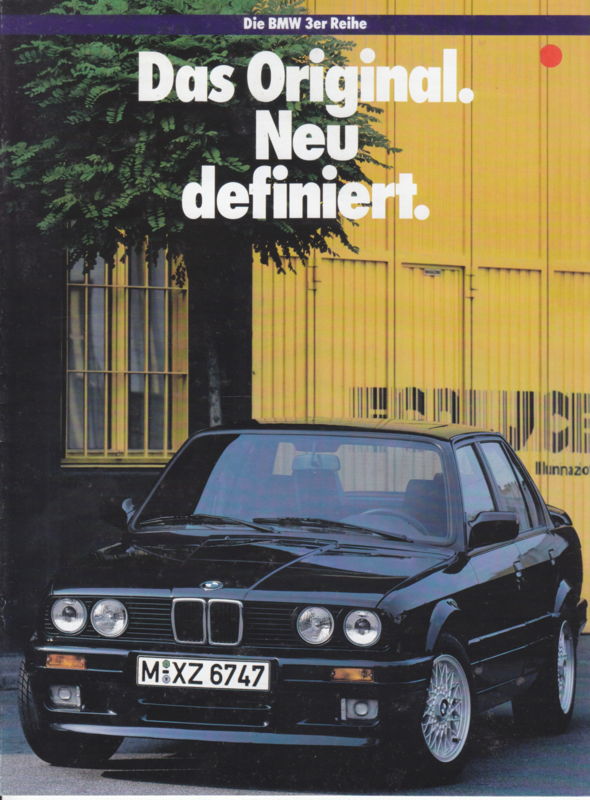 3-Series introduction brochure, 12 pages,  1988, German language