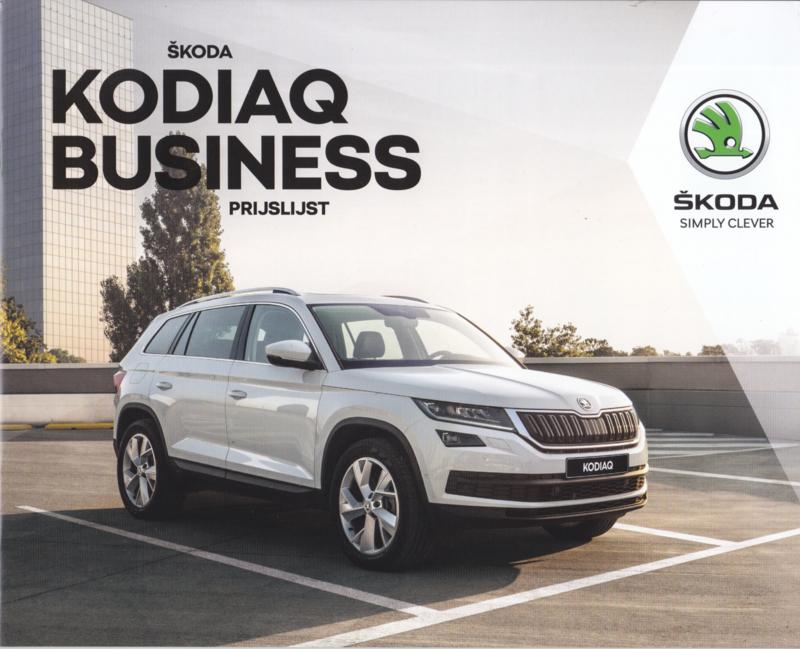 Kodiaq Business pricelist brochure, 20 pages, 06/2017, Dutch language