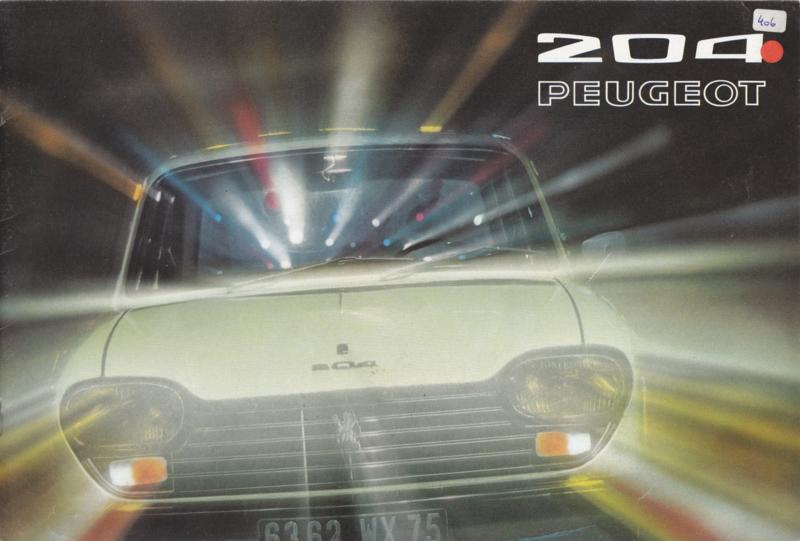 204 Sedan & Break brochure, 12 pages, A4-size, 07/71, Dutch language