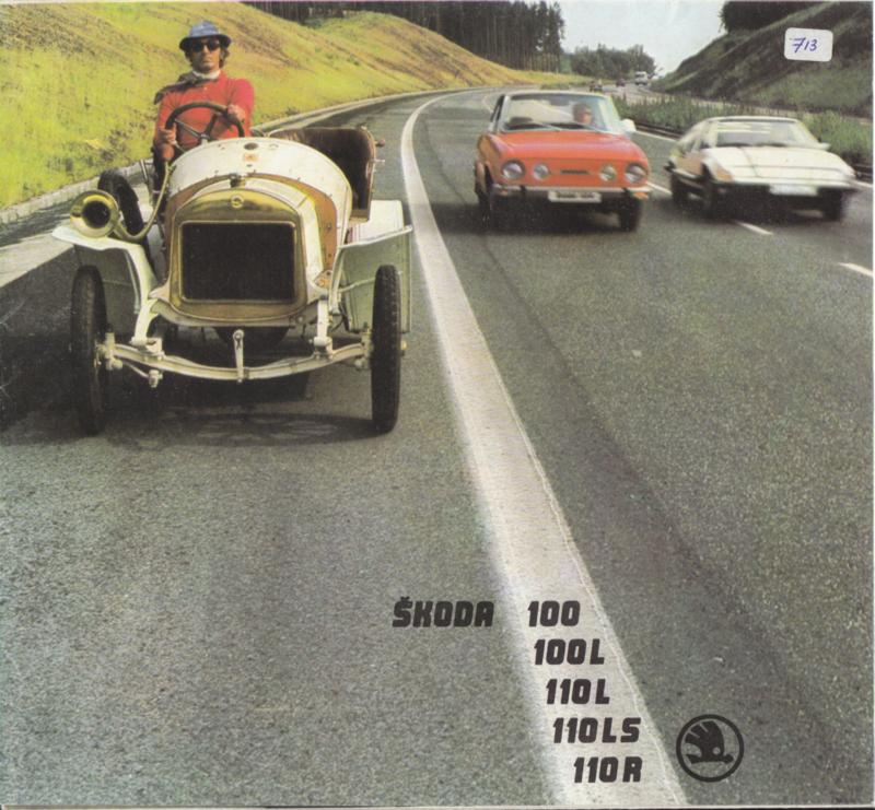 100/110 Sedan & Coupé brochure, 12 pages, Finnish language, about 1980