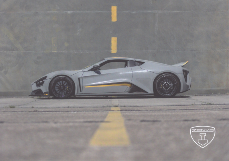 Zenvo TS1 sports car, A5-size postcard, factory-issued, 2018, month: April