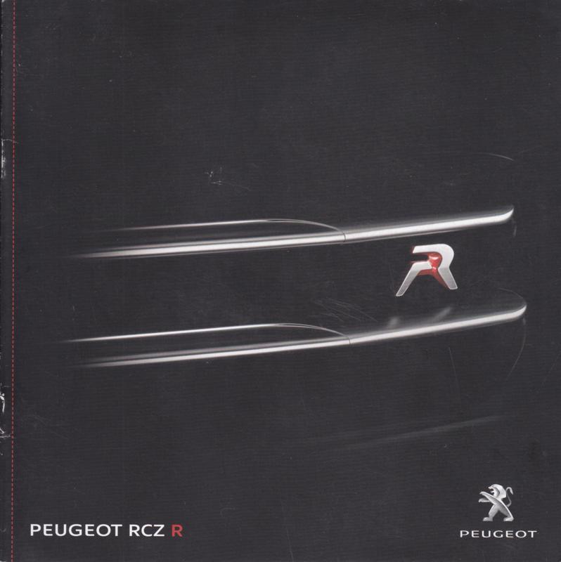 RCZ R brochure, 8 pages, Dutch language, 12/2013 (Belgium)