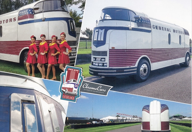 1941 GM Futurliner, postcard of Chromecars classics , 2016, # 9 of 12