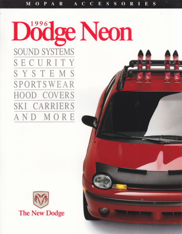 Neon accessories brochure, 6 pages, 1996, English language, USA