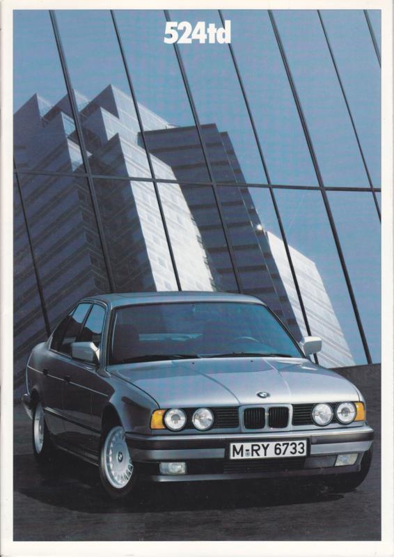 524 td Sedan brochure, 36 pages, A4-size, 1/1988, Dutch language