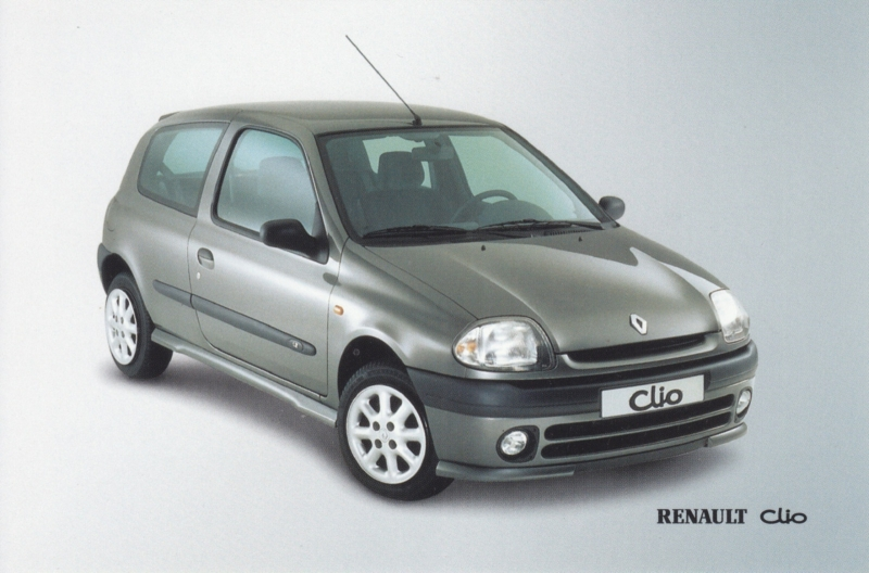 Clio maintenance prices, A6 size card, Dutch language, about 2000