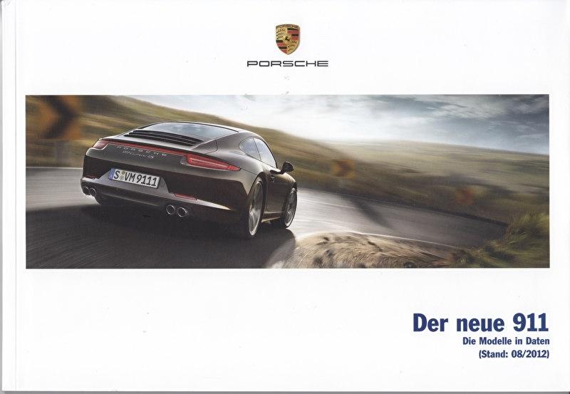 911 Carrera pricelist, 112 pages, 08/2012, German