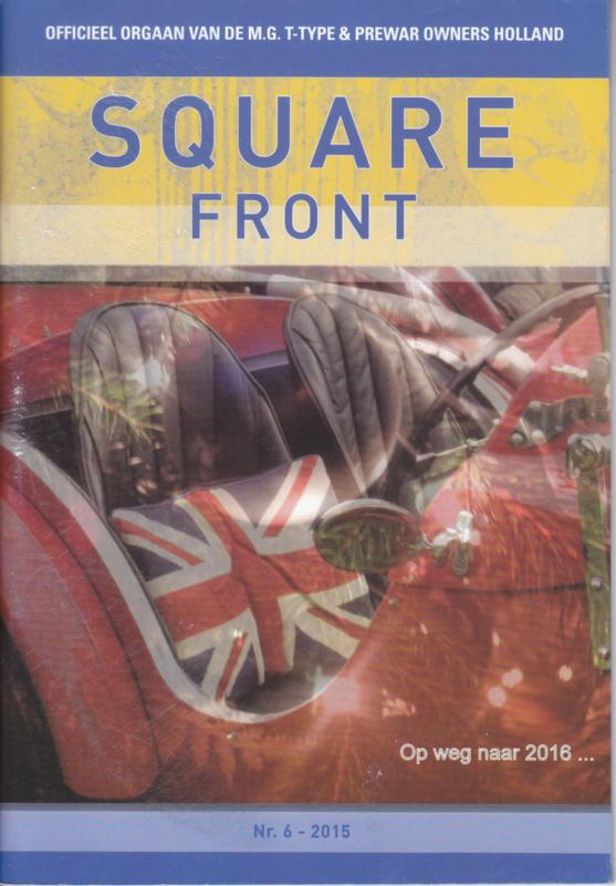 MG T-Type & Prewar club magazine,  A5-size, 48 pages, Dutch language, issue 6 (2015)