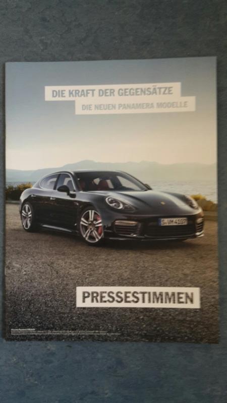 Panamera press excerpts brochure, 16 large pages, 2013, German language