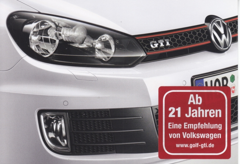 Golf GTI, A6-size postcard, German, 2012