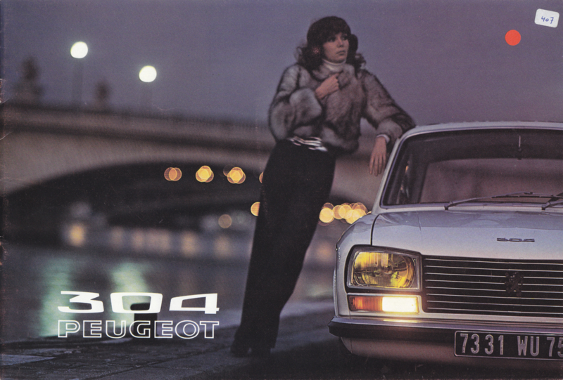 304 Sedan & Break brochure, 12 pages, A4-size, 07/71, Dutch language