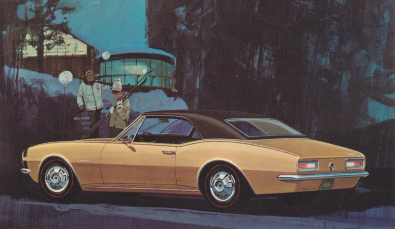 Camaro SS-350 Sport Coupe, US postcard, standard size, 1967
