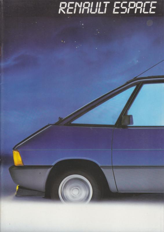 Espace brochure, 26 pages, 1985, German language