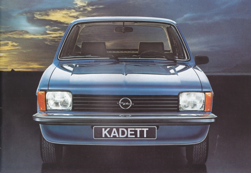 Kadett brochure, 20 pages +  specs., 08/1978, German language