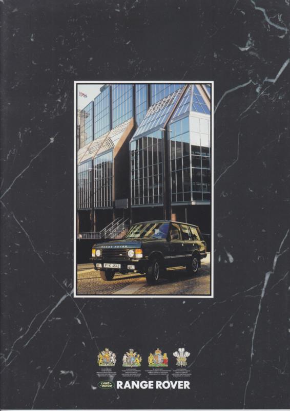 Range Rover brochure, 24 pages, A4-size, 9/1991, German language