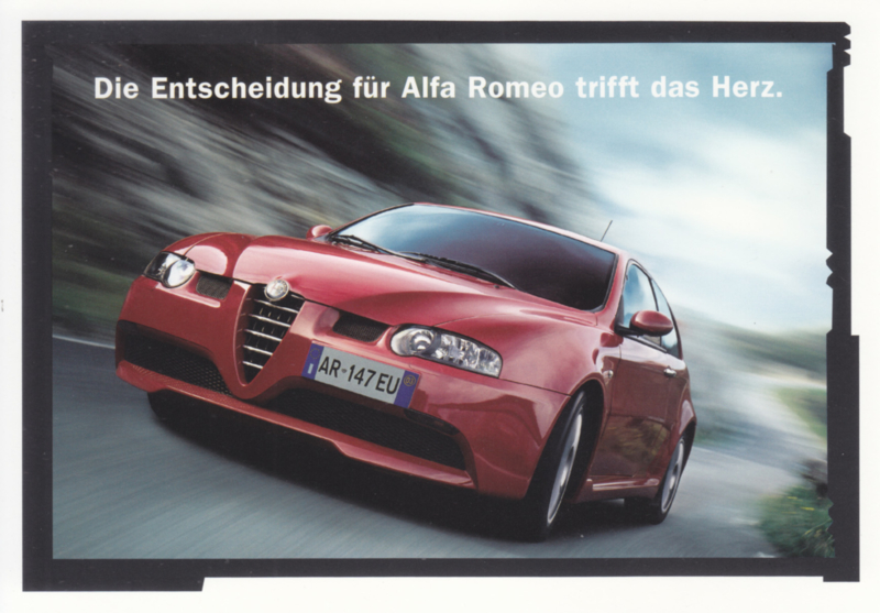 147 postcard, DIN A6-size, German language, approx. 2004