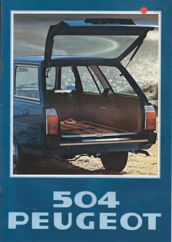 504 Break brochure, 12 pages, A4-size, 1978, Dutch language