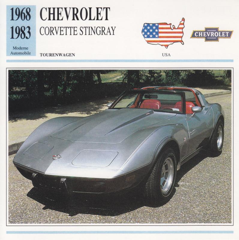 Chevrolet Corvette Stingray card, German language, D6 067 03-01