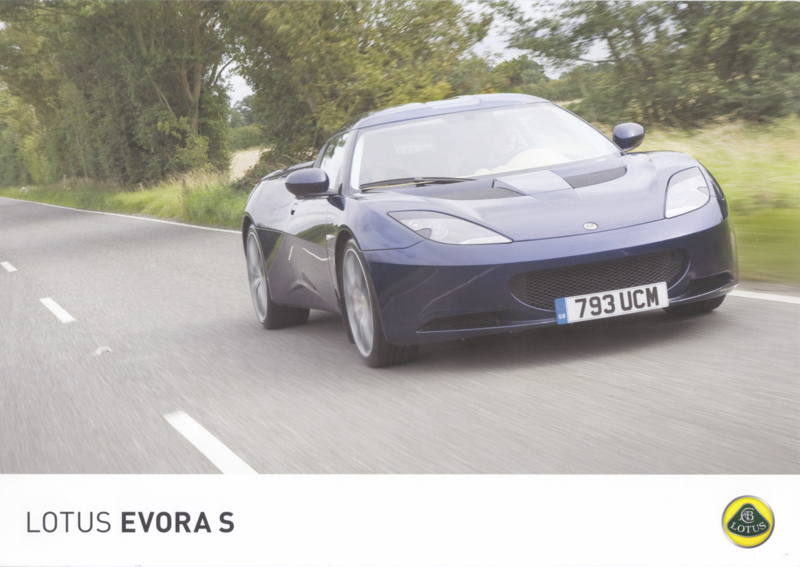 Evora S, 2 page leaflet, DIN A4-size, factory-issued, English language