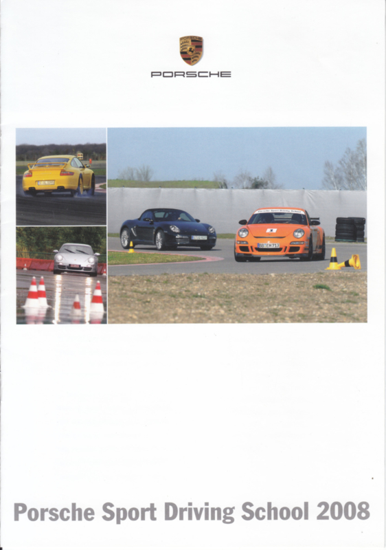 Sport Driving School brochure, 8 pages, 2008, Dutch/French language