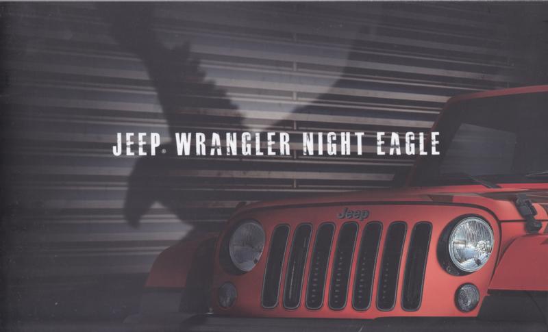 Wrangler Night Eagle brochure, 12 pages, 04/2017, Dutch language