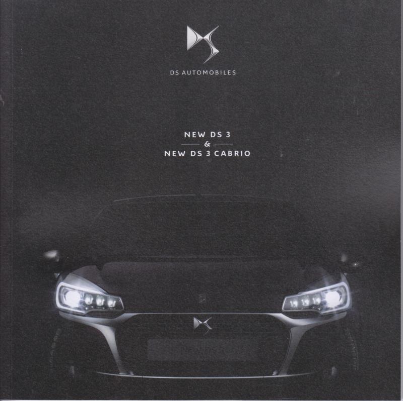 DS3 & DS3 Cabrio brochure, 56 pages, 02/2016, Dutch language