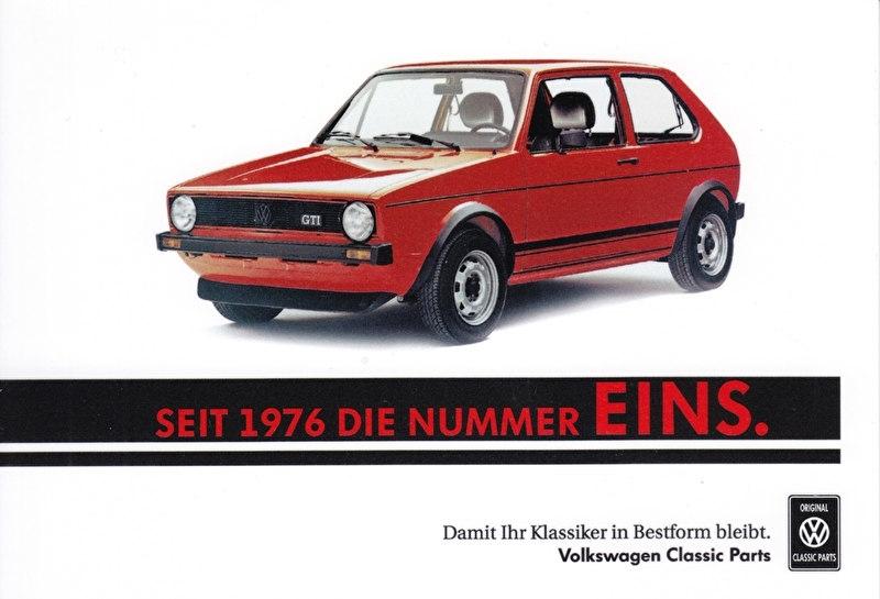 Golf GTI sammelkarte #1, A6-size postcard, German, 2016