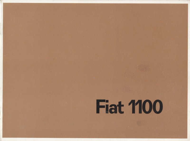 1100 Export/Speciale/Familiale brochure, 8 pages, 4/1962, Dutch language